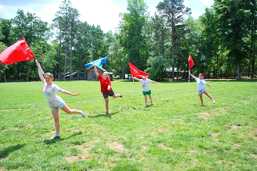 Flag Twirling at Riverview